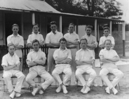 B G S Cricket first eleven of 1921