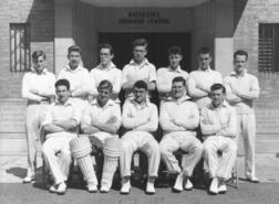 B G S Cricket first eleven of nineteen-fifty-four