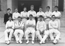 B G S Cricket first eleven probably in nineteen-fifty-five
