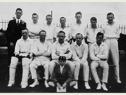 Old Grammarians' Cricket Team of 1925 prior to OGs